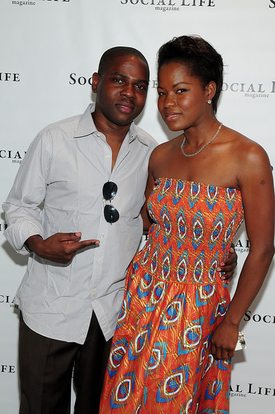 WATERMILL, NY - JULY 03: Macdella Cooper, and Colin Thompson attends the social life magazine party at The Social Life Estate on July 3, 2010 in Watermill, New York.(Photo by Joseph Bellantoni/In House Image)
