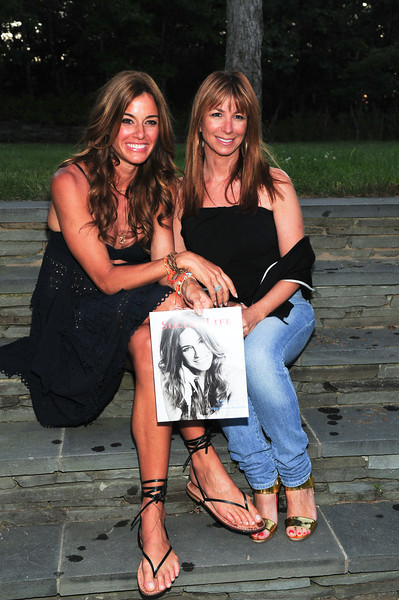 WATERMILL, NY - JULY 03:  Kelly Bensimon and Jill Zarin attends the social life magazine party at The Social Life Estate on July 3, 2010 in Watermill, New York.(Photo by Joseph Bellantoni/In House Image)