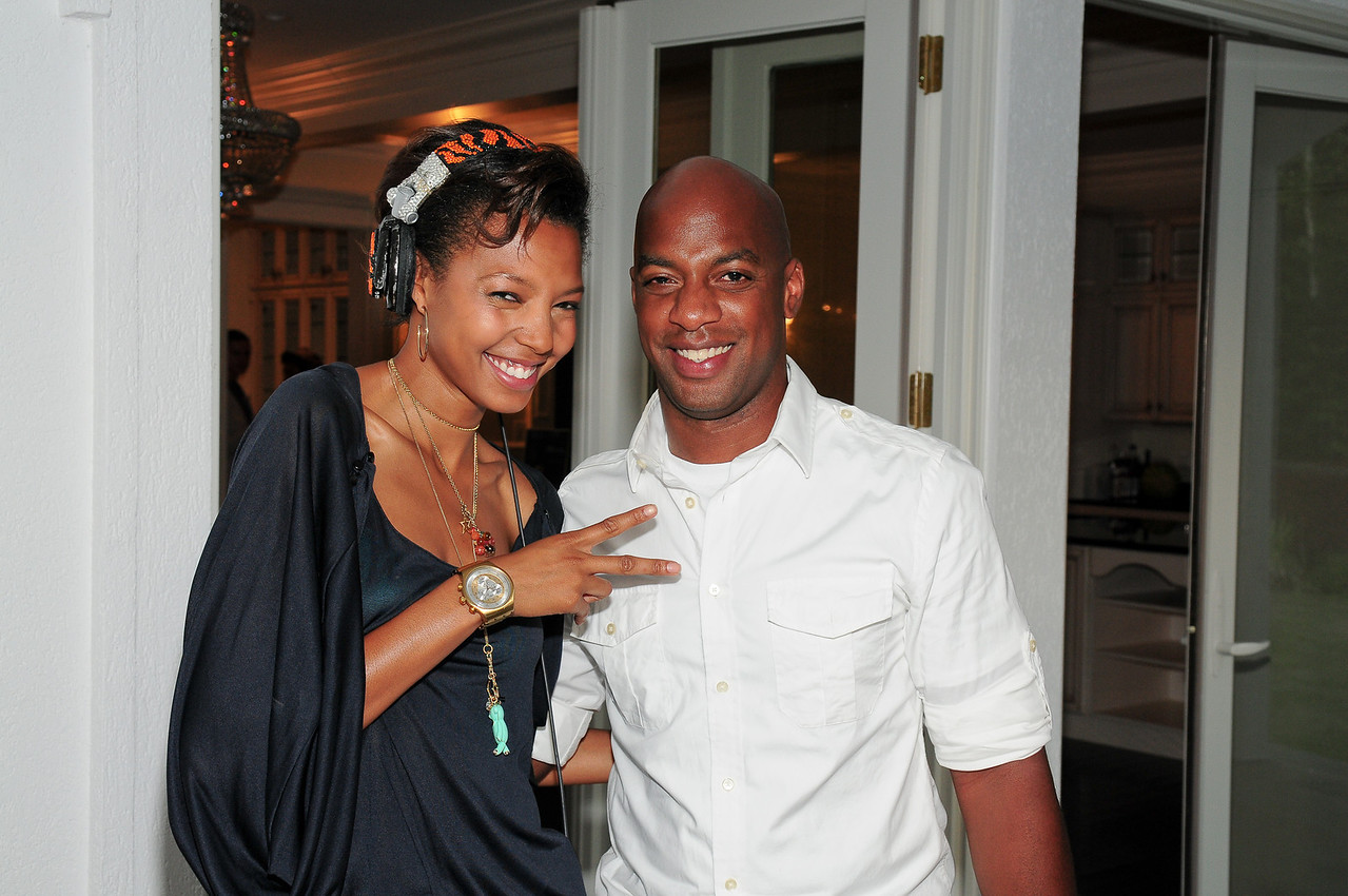 WATERMILL, NY - JULY 03:  DJ Tyger Lilly, and DJ Marvilous attends the social life magazine party at The Social Life Estate on July 3, 2010 in Watermill, New York.(Photo by Joseph Bellantoni/In House Image)