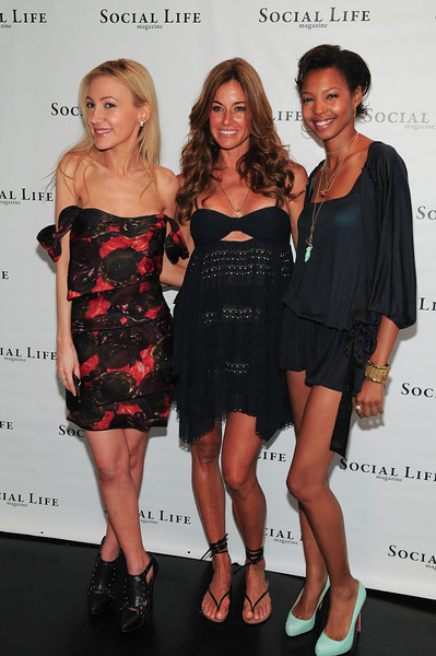 WATERMILL, NY - JULY 03:   Social Life Magazine Editor Devorah Rose, Kelly Bensimon and DJ Tyger Lilly attends the social life magazine party at The Social Life Estate on July 3, 2010 in Watermill, New York.(Photo by Joseph Bellantoni/In House Image)