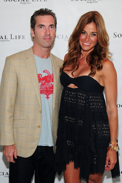 WATERMILL, NY - JULY 03: Social Life Magazine publisher Justin Mitchell and Kelly Bensimon attends the social life magazine party at The Social Life Estate on July 3, 2010 in Watermill, New York.(Photo by Joseph Bellantoni/In House Image)