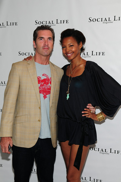 WATERMILL, NY - JULY 03:  Social Life Magazine publisher Justin Mitchell, and DJ TygerLily attends the social life magazine party at The Social Life Estate on July 3, 2010 in Watermill, New York.(Photo by Joseph Bellantoni/In House Image)