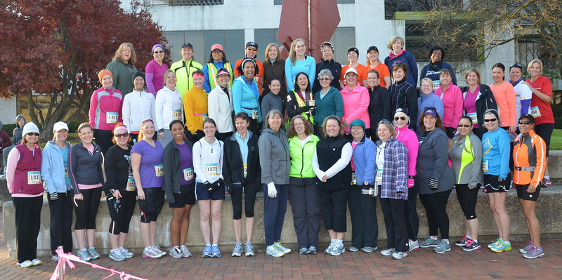 Next Step's Getting Inspired to Run for Life (GIRL) training group turned out in force to run the Metric Running Festival 5k