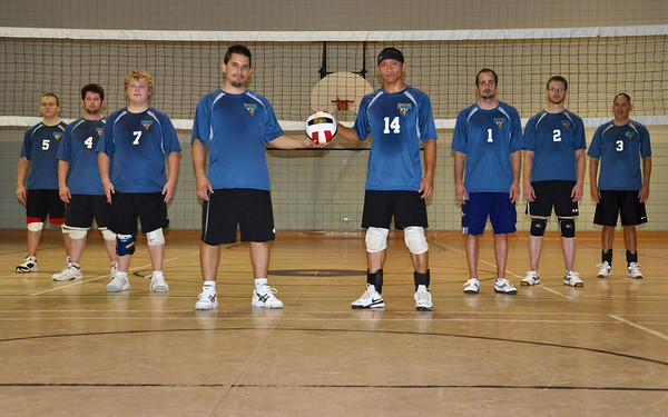 Deaf Men Can't Jump team 2011.  <br /> Left side to right side:<br /> Brandon, Chris, Andrew, Ross, me, Shaun, Randy and John.<br /> (The uniform Jersey is only for temporary until end of October).