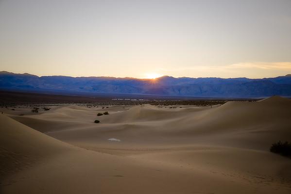 Sunset at Mesquite Flat Sand Dunes