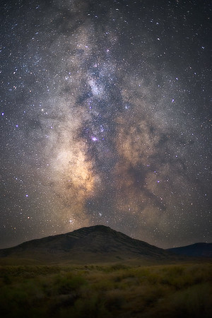 Goshute Peak Under the Milky Way