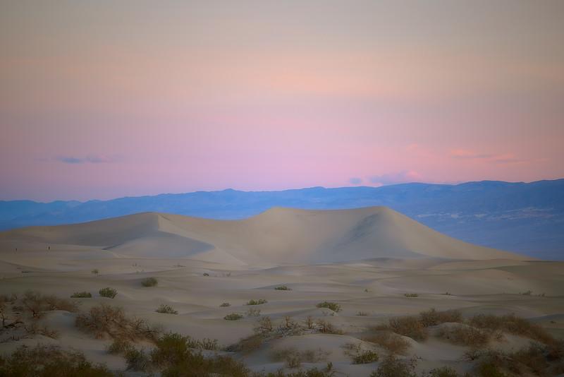 Sunrise at Mesquite Flats Sand Dunes