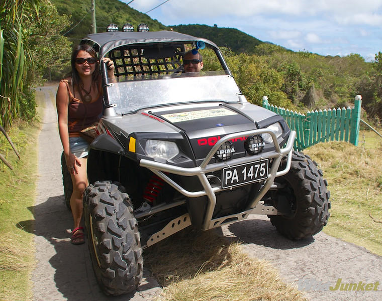 Alberto and I on our 4x4 vehicle