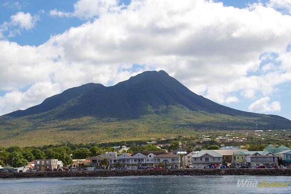 Nevis from the sea