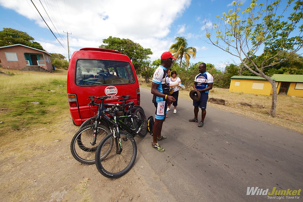 biking with Winston and Greg