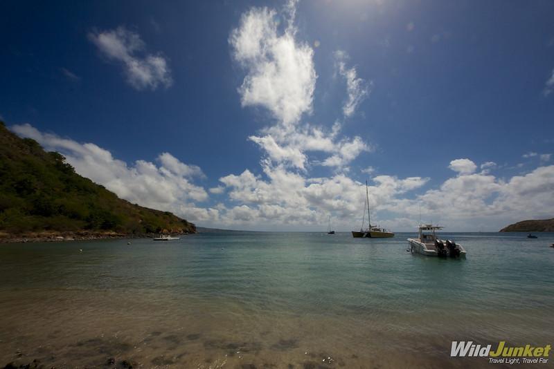 Beach at Reggae Beach Bar in St. Kitts