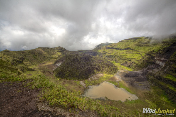 A view of the volcano crater