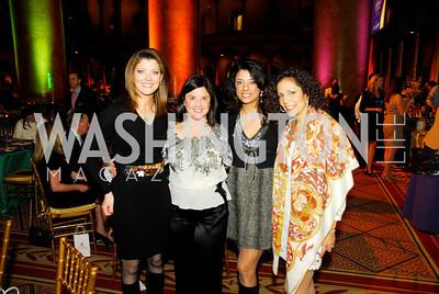 Norah O'Donnell,Judy Bishop,Gladys Abi Najim,Eunice Mazloom,March 1,2011,St.Jude Gourmet Gala,Kyle Samperton