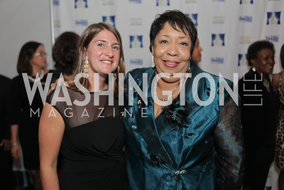 Shira FIshman, Jean Savoy. Standing Ovation for DC Teachers. Kennedy Center. September 19, 2011. Photo by Alfredo Flores