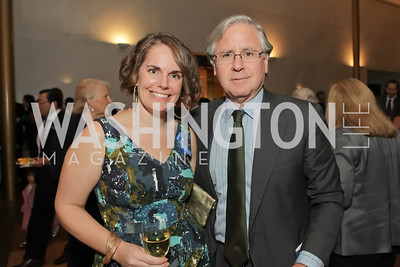 Cate Swinburn, Howard Fineman. Standing Ovation for DC Teachers. Kennedy Center. September 19, 2011. Photo by Alfredo Flores