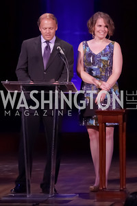 Mark Ein, Cate Swinburn. Standing Ovation for DC Teachers. Kennedy Center. September 19, 2011. Photo by Alfredo Flores
