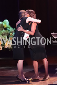 Kelly Emminger, Alfre Woodard. Standing Ovation for DC Teachers. Kennedy Center. September 19, 2011. Photo by Alfredo Flores