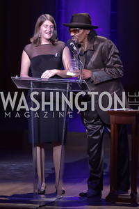 Shira Fishman, Chuck Brown. Standing Ovation for DC Teachers. Kennedy Center. September 19, 2011. Photo by Alfredo Flores