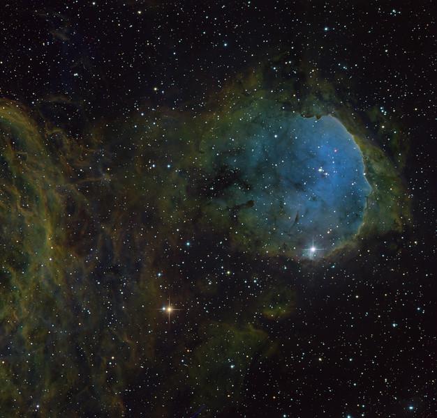 Gabriela Mistral with RGB stars