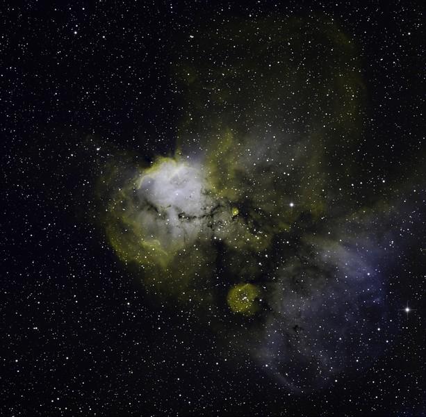 NGC 2467 Ha 9hrs OIII 6hrs HHO