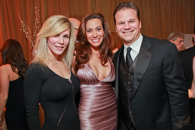Annie McGuder, Dawn Gontkovic, Craig Gontkovic. Starlight Taste of the Stars Gala. Four Seasons Georgetown. November 19, 2011. Photo by Alfredo Flores