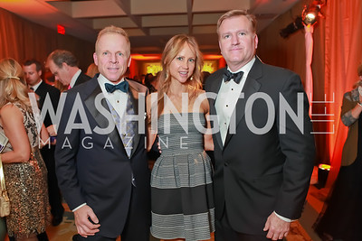 Jim Greenan, Jocelyn Greenan, Jim Bell. Starlight Taste of the Stars Gala. Four Seasons Georgetown. November 19, 2011. Photo by Alfredo Flores