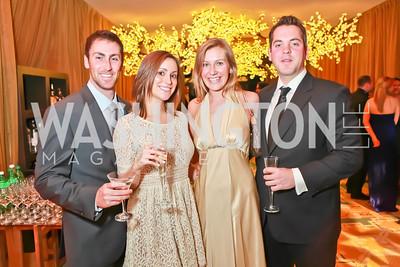 Chris Mahoney, Kristen Hostetter, Anna Jensen, Peter Badner. Starlight Taste of the Stars Gala. Four Seasons Georgetown. November 19, 2011. Photo by Alfredo Flores