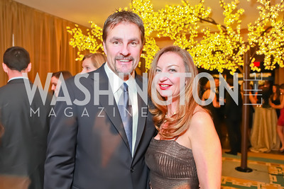 Kevin Kuriowski, Colleen Hanlin. Starlight Taste of the Stars Gala. Four Seasons Georgetown. November 19, 2011. Photo by Alfredo Flores