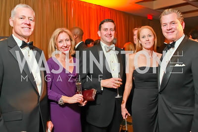 Ed Coleman, Julie Coleman, Jim Bolduc, Ann Bolduc, Nels Olson. Starlight Taste of the Stars Gala. Four Seasons Georgetown. November 19, 2011. Photo by Alfredo Flores