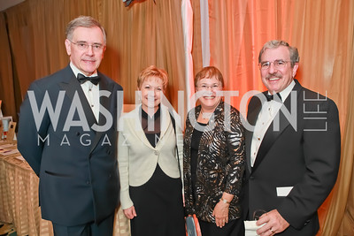 David Nelson, Leslie Nelson, Alice Pengra, Ed Leahy. Starlight Taste of the Stars Gala. Four Seasons Georgetown. November 19, 2011. Photo by Alfredo Flores