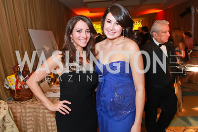 Farrah Erculiani, Elizabeth Leavitt. Starlight Taste of the Stars Gala. Four Seasons Georgetown. November 19, 2011. Photo by Alfredo Flores