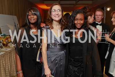 Glenna Taylor-Watson, Barbara Schreiber, Zhane Taylor-Watson. Starlight Taste of the Stars Gala. Four Seasons Georgetown. November 19, 2011. Photo by Alfredo Flores