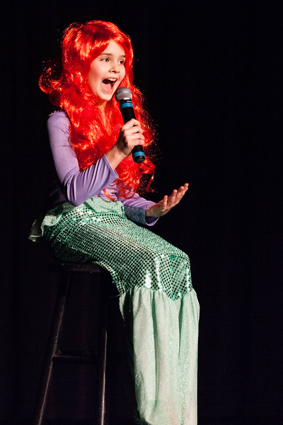 Tibby McDowell | The Sheridan Press<br /> <br /> 4th grader Tess Bateman sings a song from the movie The Little Mermaid during auditions for Stars of Tomorrow at Wyo Performing Arts and Education Center Tuesday Jan. 30, 2018.