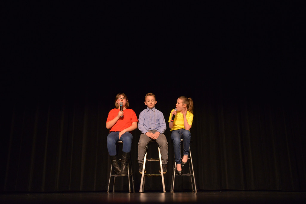 Justin Sheely | The Sheridan Press<br /> <br /> From left, Megan Bybee, Shaun Gonda, and Charlize Gonda sing during the Stars of Tomorrow auditions at the WYO Performing Arts and Education Center Tuesday, Jan. 30, 2018. The talent competition, presented by Sheridan Kiwanis and Sheridan Jaycees, will show at the WYO Performing Arts and Education Center Feb. 23 at 7 p.m.