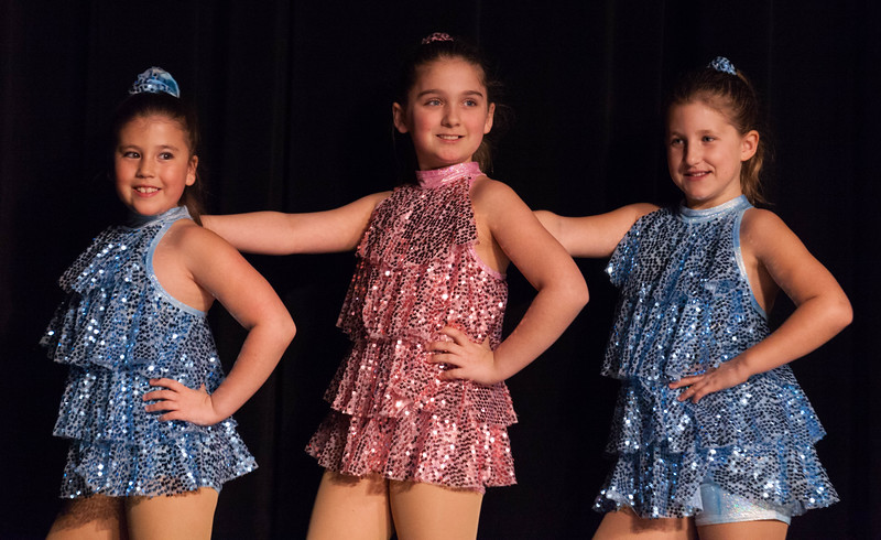 Tibby McDowell | The Sheridan Press<br /> <br /> Aliegh Tellez, left, JoAnne Kahm, center, and Maya Heide, right, line up for their dance performance during auditions for Stars of Tomorrow at Wyo Performing Arts and Education Center Tuesday Jan. 30, 2018.