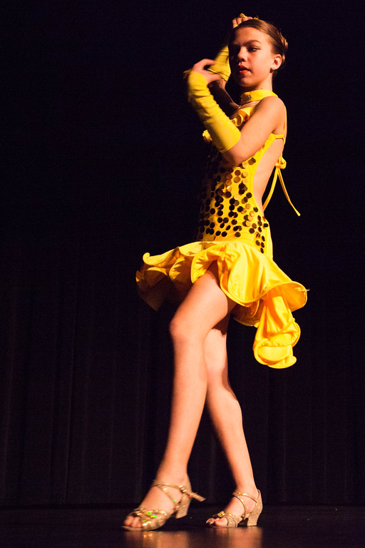 Tibby McDowell | The Sheridan Press<br /> <br /> Genavieve Thums does a dance routine during auditions for Stars of Tomorrow at Wyo Performing Arts and Education Center Tuesday Jan. 30, 2018.