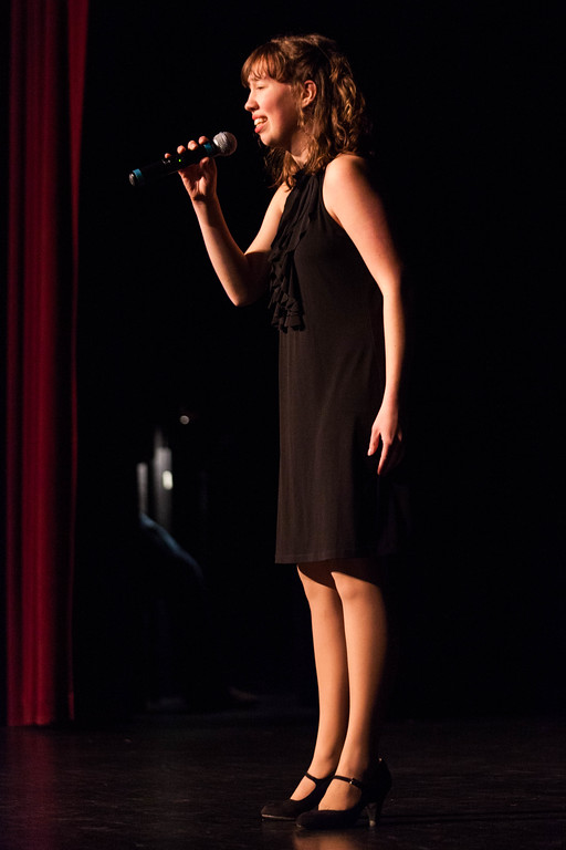 Tibby McDowell | The Sheridan Press<br /> <br /> High School student Kate Arneson performs a vocal during auditions for Stars of Tomorrow at Wyo Performing Arts and Education Center Tuesday Jan. 30, 2018.