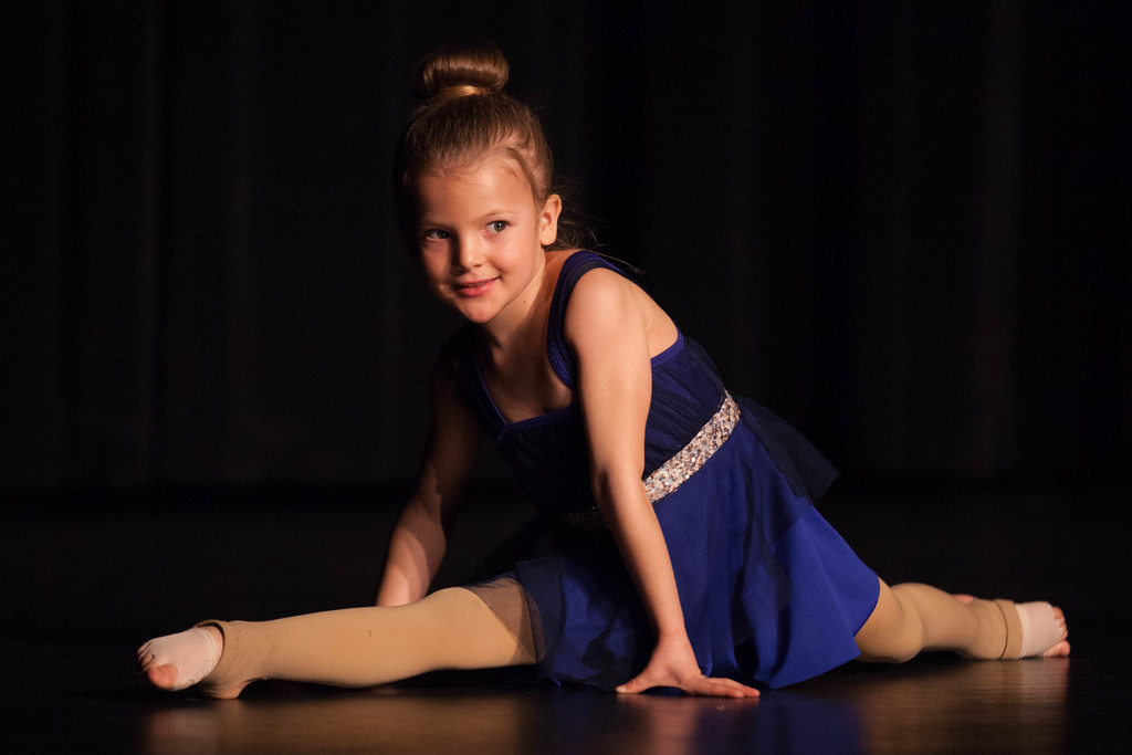 Tibby McDowell | The Sheridan Press<br /> <br /> Gracee Tellez does the splits as part of her dance performance at auditions for Stars of Tomorrow at Wyo Performing Arts and Education Center Tuesday Jan. 30, 2018.