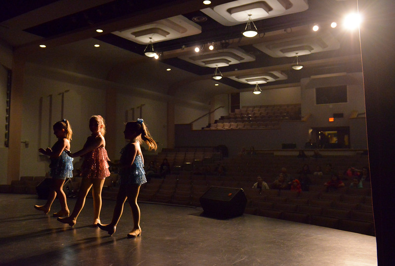 Justin Sheely | The Sheridan Press<br /> <br /> Dancers, from left, Maya Heide, Joee Kahm, Aliegh Tellez perform during the Stars of Tomorrow auditions at the WYO Performing Arts and Education Center Tuesday, Jan. 30, 2018. The talent competition, presented by Sheridan Kiwanis and Sheridan Jaycees, will show at the WYO Performing Arts and Education Center Feb. 23 at 7 p.m.
