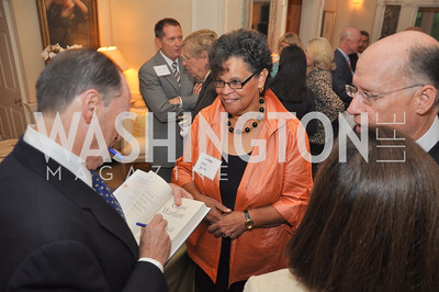 Steven Brill Signs a book for Dr. Charlene Drew Jarvis