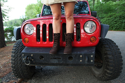 Boots on Jeep