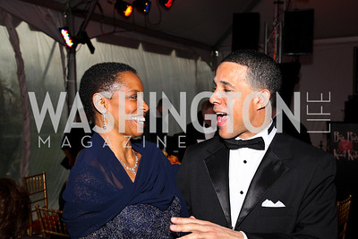 Congresswoman Donna Edwards, Maryland Lieutenant Governor Anthony Brown. Strathmore Gala. Photo by Tony Powell. April 16, 2011
