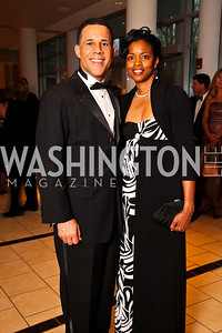 Maryland Lieutenant Governor Anthony Brown and girlfriend. Strathmore Gala. Photo by Tony Powell. April 16, 2011