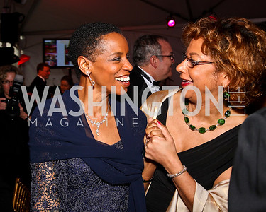 Congresswoman Donna Edwards, Catherine Leggett. Strathmore Gala. Photo by Tony Powell. April 16, 2011