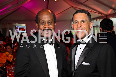 Montgomery County Executive Isiah Leggett, Maryland Lieutenant Governor Anthony Brown. Strathmore Gala. Photo by Tony Powell. April 16, 2011