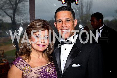 Annie Totah, Maryland Lieutenant Governor Anthony Brown. Strathmore Gala. Photo by Tony Powell. April 16, 2011