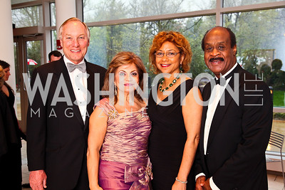Maryland Comptroller Peter Franchot, Annie Totah, Catherine and Isiah Leggett. Strathmore Gala. Photo by Tony Powell. April 16, 2011