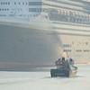 Queen Mary 2 in Boston's Black Falcon Cruise Terminal.