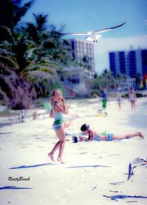 girl feeding gulls-3