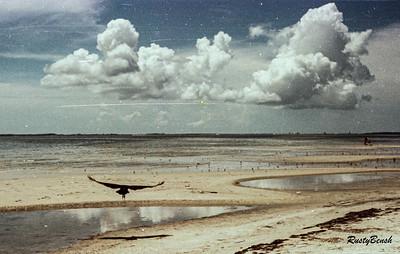 storm cloud ar low tide